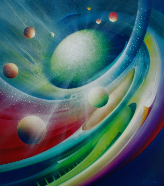 SPHERE PULSTAR (fusion~fission) oil on canvas 80x70cm MMXII