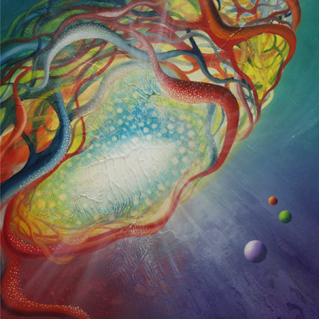 0005 SPHERE metastability Q7 ( fractional ~ whole )  -oil on wooden panel - 45x50cm - MMXIII
