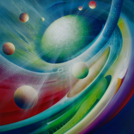0009 SPHERE PULSTAR ( fusion ~ fission ) -oil on canvas - 80x70cm - MMXII