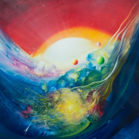 0010-SPHERE TMM (complementarity~contradiction) oil on canvas 80x70cm by Drazen Pavlovic 2012