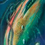 0021-SPHERE-organica-2(compression~tension)-oil-on-canvas-by Drazen Pavlovic 100x73cm 2000