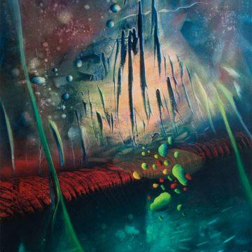 0022-SPHERE-ß (macrocosm~microcosm) oil-on-canvas-90x72cm-MM