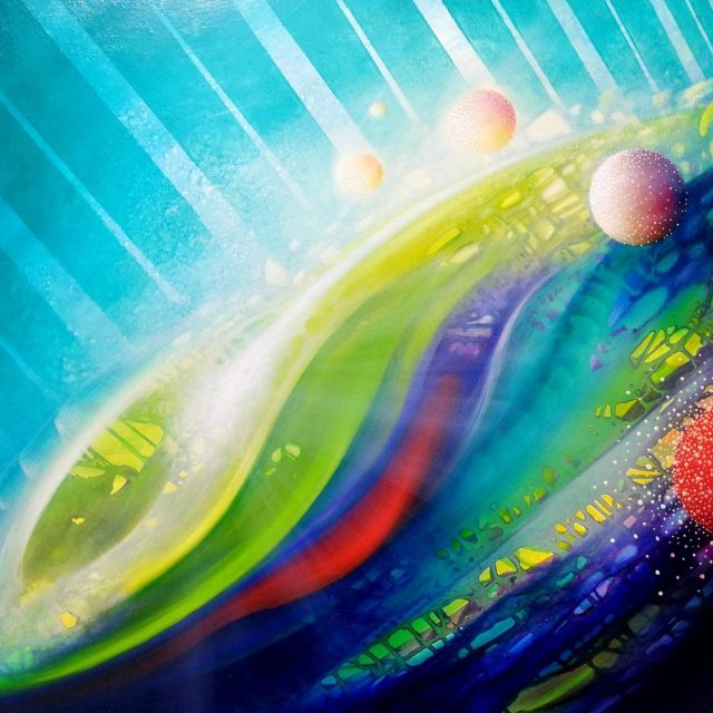 SPHERE CO (conjunction ~ opposition) * oil on canvas * 60 x 80cm * MMXX