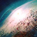 SPHERE IU ( I am ~ the Universe ) * oil on canvas * 50 x 60 cm * MMXIX * author : Dražen Pavlović * Original oil painting