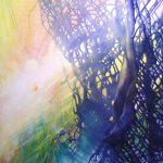 SPHERE OM ( biologically organic ~ genetically modified ) * acrylic & oil on canvas * 80 x 60 cm * 2019