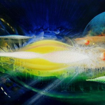 SPHERE TS ( time ~ space ) * oil on canvas * 40 x 80 cm * MMXV * author : Drazen Pavlovic * Original oil painting with Certificate No.52660 * sold