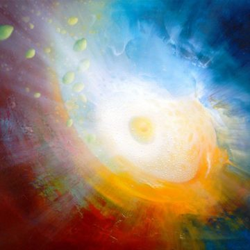 SPHERE LC ( luminance ~ color  )  oil on canvas 50 x 70 cm MMXVIII author Drazen Pavlovic Original oil painting with Certificate No.52752