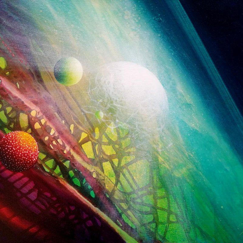 SPHERE VH ( virus ~ host ) * oil on canvas * 40 x 50 cm * MMXX * author : Drazen Pavlovic * Original oil painting with Certificate No.52790  / for sale