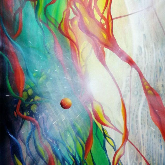 SPHERE VM (vitalism ~ mechanism) *oil on canvas * 70 x 50 cm * MMXX