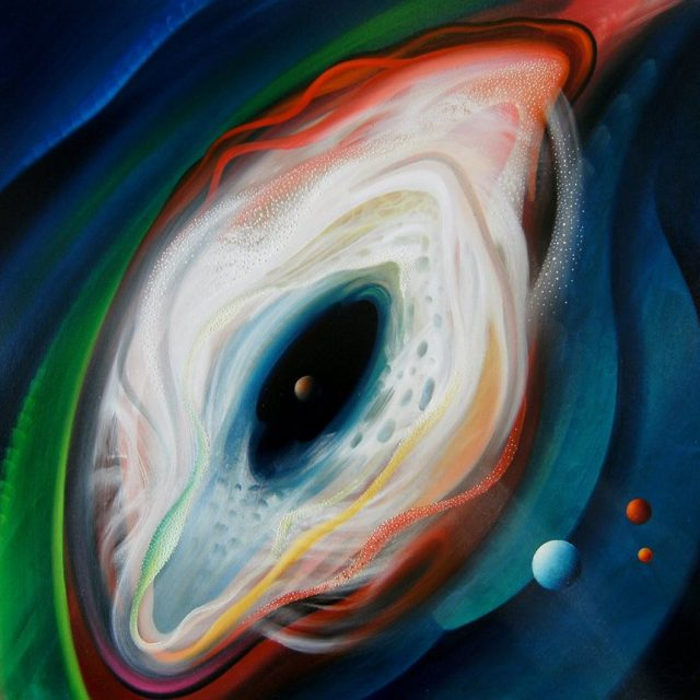 SPHERE BD ( birth ~ death ) * oil on canvas * 80 x 90 cm * MMXV * author * Drazen Pavlovic