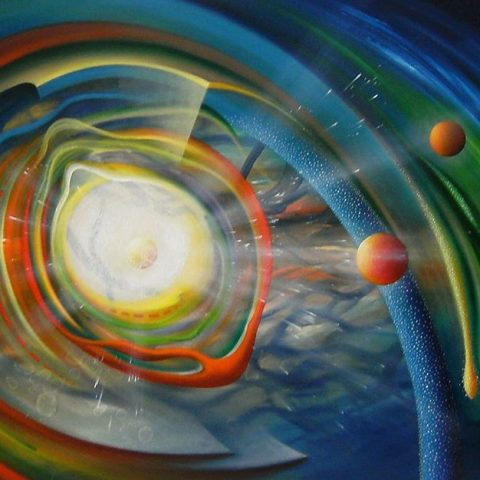 SPHERE BT ( binding ~ transduction ) * oil on canvas * 100 x 150 cm * MMXVI * author Drazen Pavlovic * Original oil painting with Certificate No.52678 * For Sale