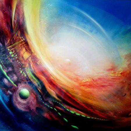 SPHERE CD1 (inside~outside) oil on wooden board 66 x 76 cm MMXIII by Drazen Pavlovic-Certificate No. 52580
