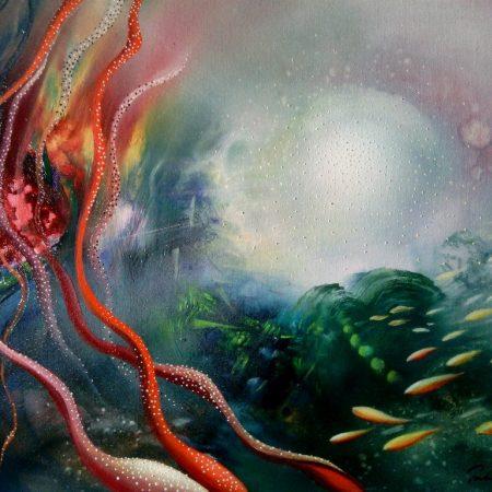 SPHERE CD3 (mutation ~ selection) oil on canvas 40 x 50 cm MMXIII by Drazen Pavlovic Certificate No. 52583