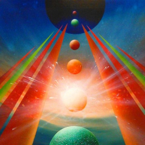 SPHERE CF (chakra~flow ) - oil on canvas * 70 x 90 cm * MMXVII * author Drazen Pavlovic * Original oil painting with Certificate No.52690