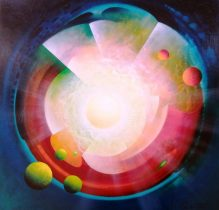 SPHERE ED (energy~dynamics). Oil on canvas - 80x80cm, by Drazen Pavlovic, MMXIX. Certificate No. 52773 - Sold.