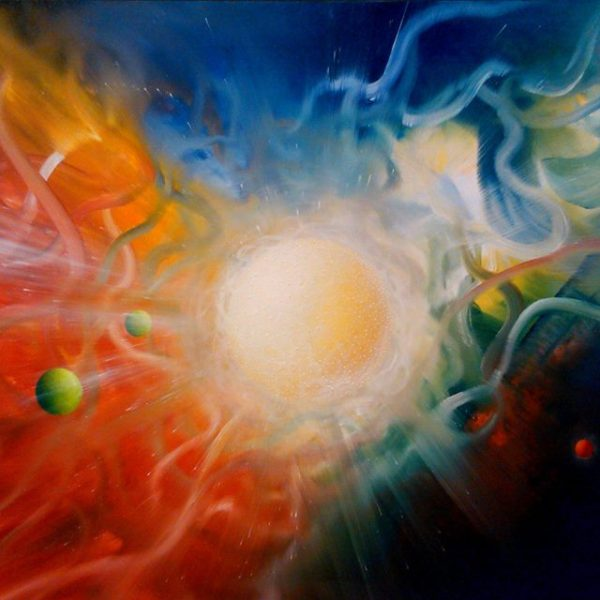 SPHERE EM (energy ~ matter ) * oil on canvas * 100 x 150 cm * MMXVI * author * Drazen Pavlovic * in collection of Croatian collector S.Pohizek