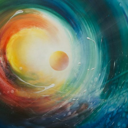 SPHERE F31-(acceleration~bozon)-oil-on-canvas-60x80cm-2009-by Drazen Pavlovic