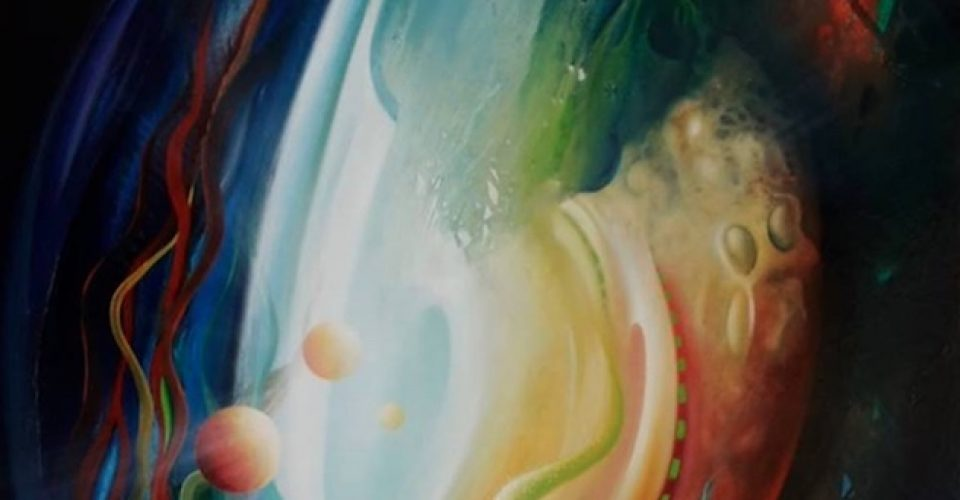 SPHERE IO3-( inward~outward )-oil on canvas - 100 x 80 cm-MMXV-by-Drazen Pavlovic-Certificate No 52645-For Sale