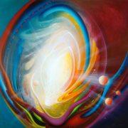 SPHERE LI ( logic ~ intuition ) * oil on canvas * 100 x 100 cm * MMXVI * author * Drazen Pavlovic * Original oil painting with Certificate No.52681