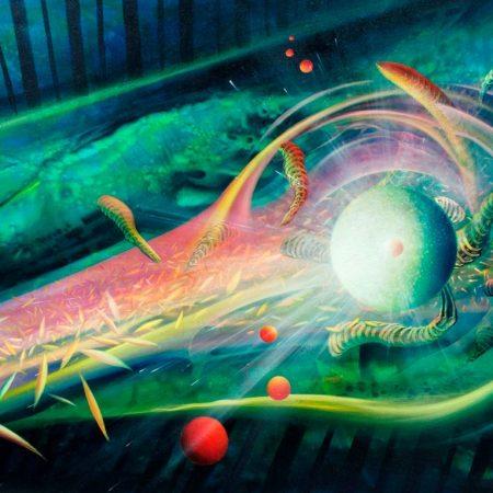 SPHERE LV ( light ~ vision ) * oil on canvas * 85 x 105 cm * MMXII * author * Drazen Pavlovic