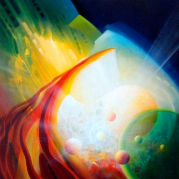 SPHERE PM ( position ~ momentum ) * oil on canvas * 60 x 60 cm * MMXVI * author * Drazen Pavlovic * Original oil painting with Certificate No.52676 * For Sale