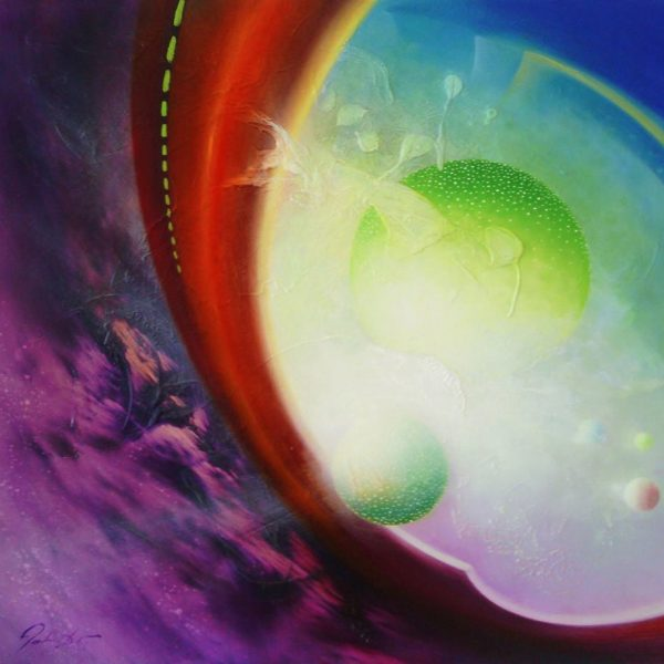 SPHERE PS7 (physical ~ spiritual ) * oil on wooden board * 70 x 69 cm * MMXIV * author Drazen Pavlovic * For Sale