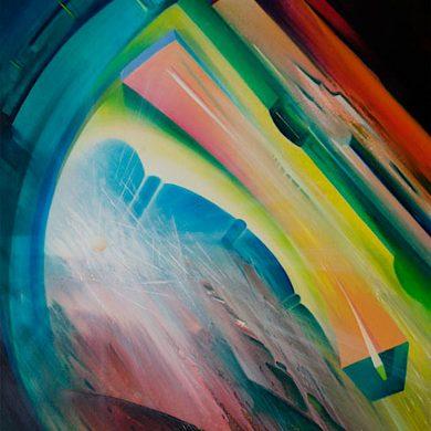 SPHERE-Q6F39-(mechanism~phenomenon)-oil-on-canvas-80x60cm by Drazen Pavlovic 2009
