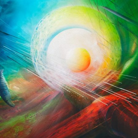 SPHERE QXL ( inorganic ~ organic ) * oil on canvas * 100 x 70 cm * MMXIII * author * Drazen Pavlovic * Original oil painting with Certificate *** for sale
