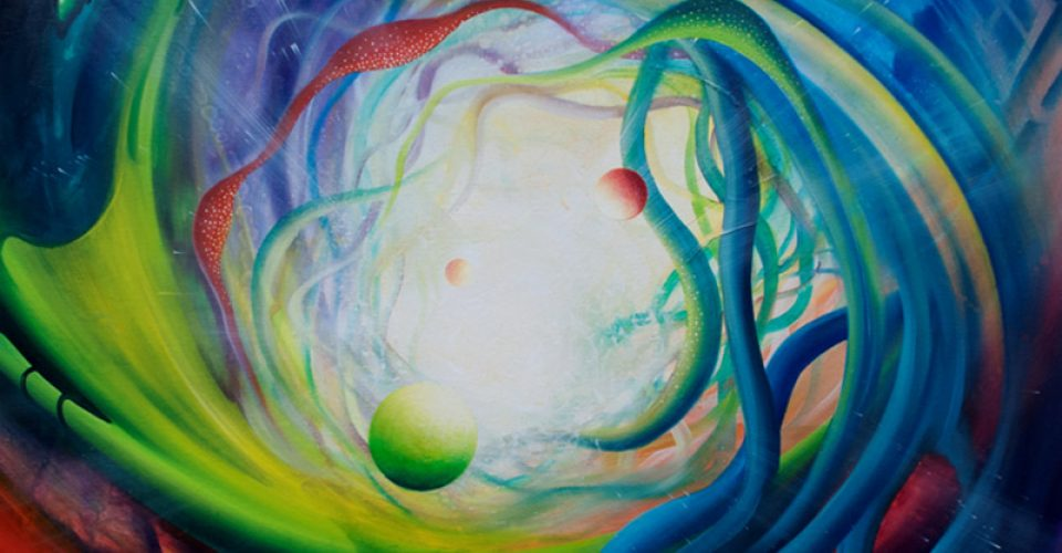 SPHERE Qf71 (particle~wave)-oil-on-canvas-70x80cm-by-Drazen-Pavlovic-MMXII