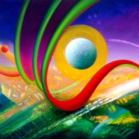SPHERE SI (symbol ~icon ) oil on canvas 75 x 100 cm MMXVI by Drazen Pavlovic