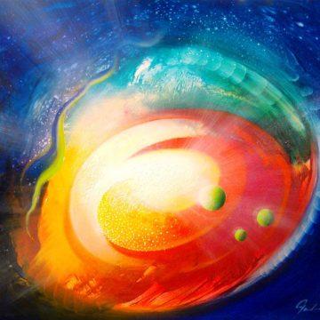 SPHERE SP-(sensation~perception )-oil on wooden board-40 x 50 cm-2017-by-Drazen Pavlovic