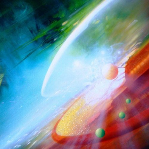 SPHERE SP ( shell ~ pearl ) * oil on canvas * 50 x 70 cm * MMXVI * author * Dražen Pavlović * Original oil painting with Certificate No.52675 * For Sale