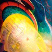SPHERE X ( gravitation ~ radiation ) * oil on canvas * 100 x 80 cm * MMIV * author * Drazen Pavlovic * for sale