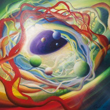 SPHERE-metastability-Q1-(brain~neuron)-oil-on-wooden-panel-45x50cm-MMXIII