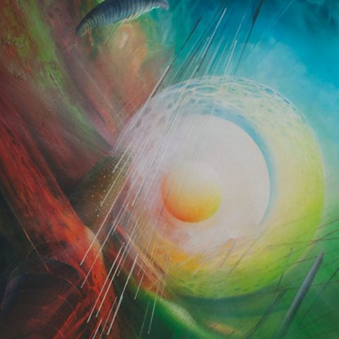 SPHERE-mystera-3-(central~peripheral)-oil-on-canvas-100x70cm by Drazen Pavlovic-2010