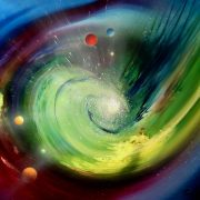 SPIRAL CHANNEL ~ SPHERE CD4 ( gravitation ~ radiation ) * oil on canvas * 50 x 60 cm * MMXIII * author * Drazen Pavlovic * Certificate No. 52583