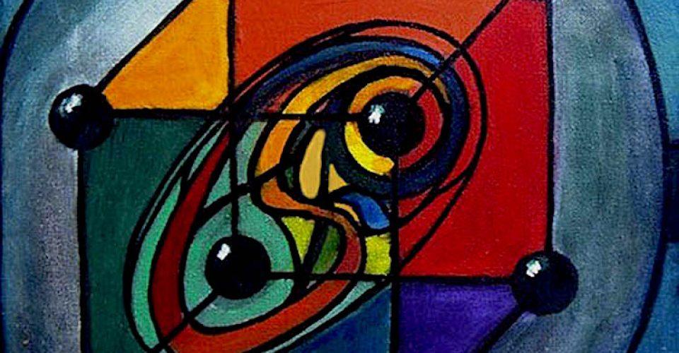 fractal-geometric-by-David-Engstroem-acrylic-on-canvas-2006
